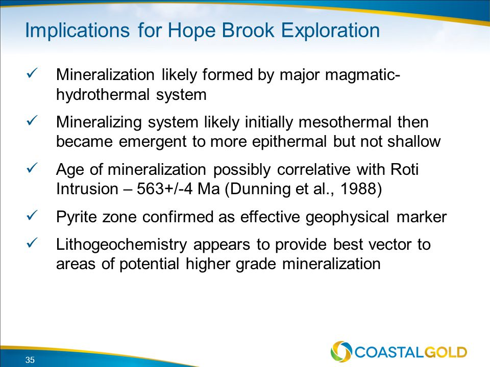 Implications for Hope Brook Exploration