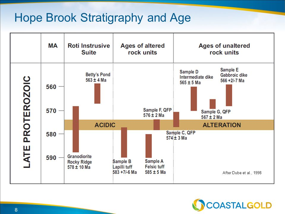 Hope Brook Stratigraphy and Age