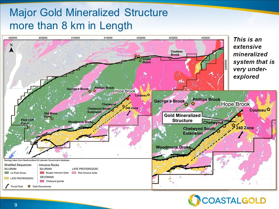 Major Gold Mineralized Structure more than 8 km in Length