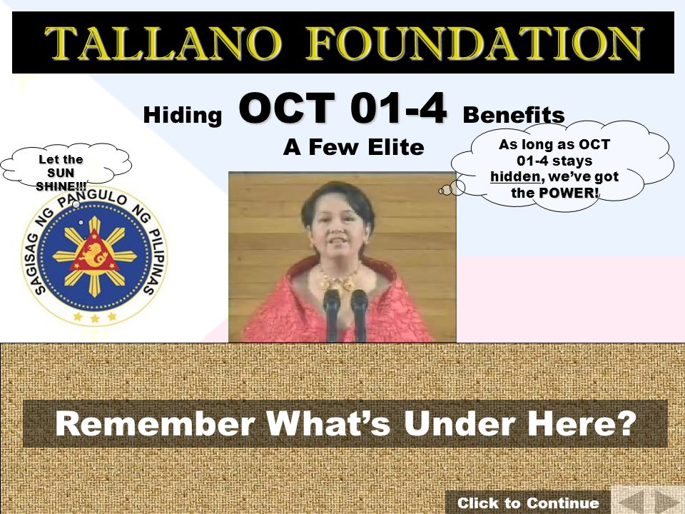 Hiding OCT 01-4 Benefits A Few Elite