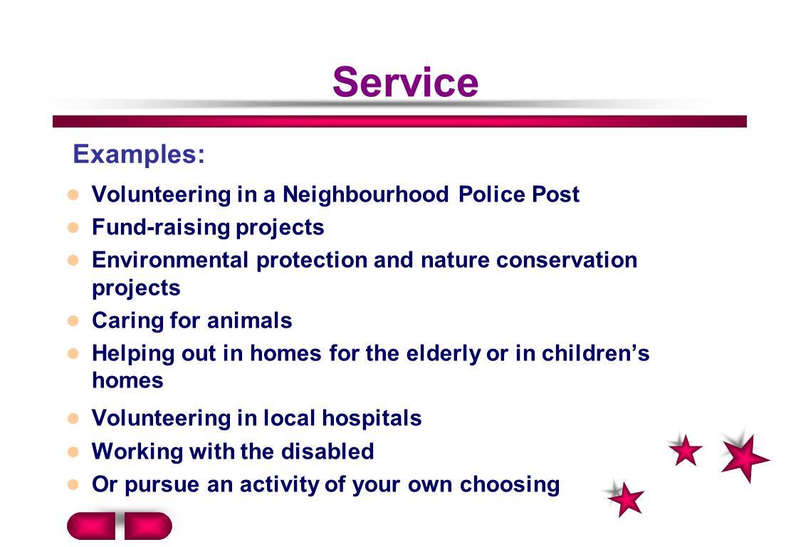 Service Examples: Volunteering in a Neighbourhood Police Post