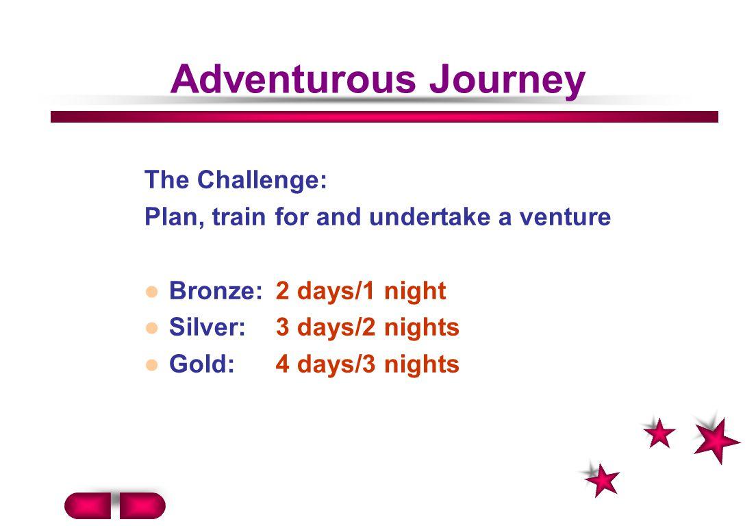 Adventurous Journey The Challenge: