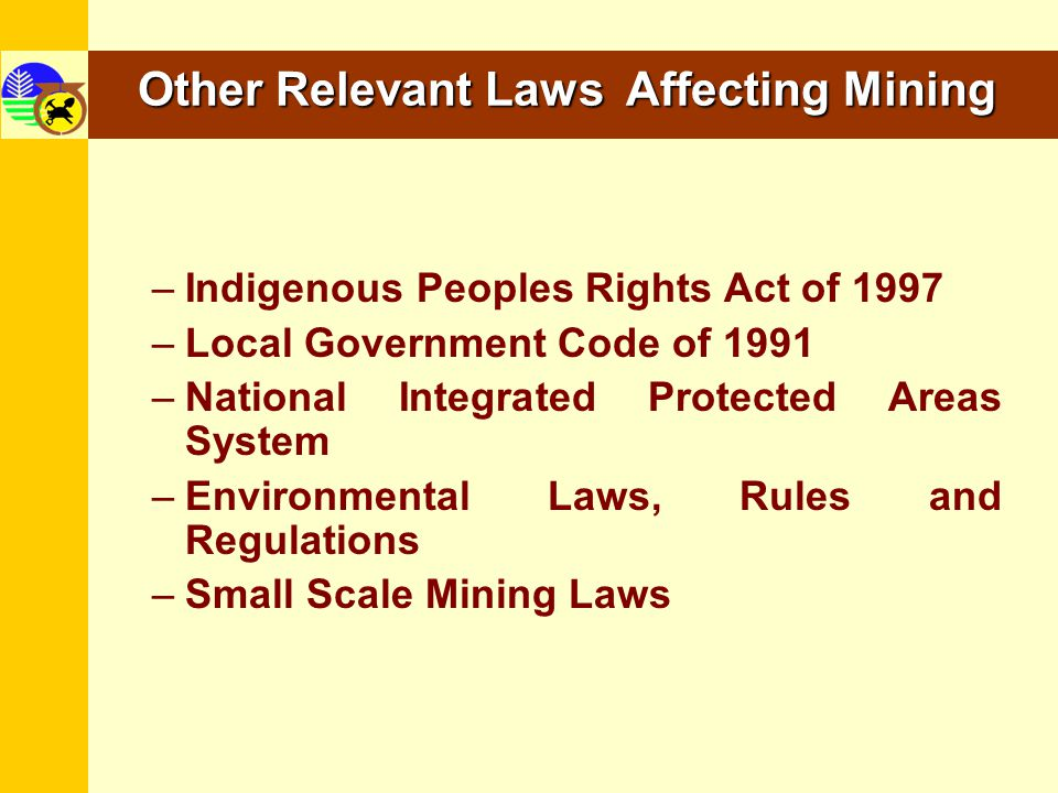 Other Relevant Laws Affecting Mining