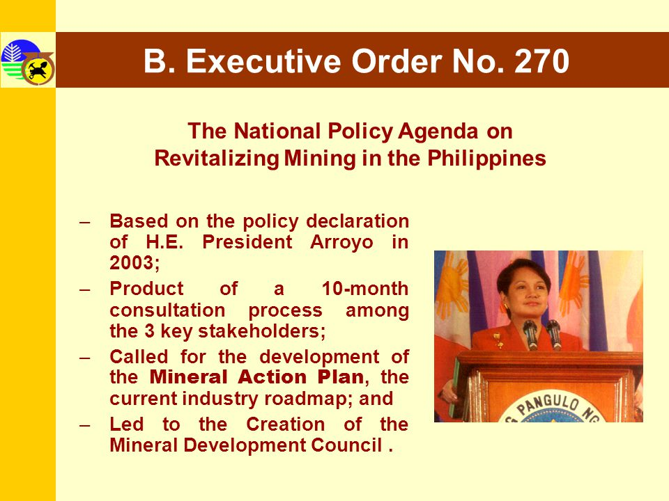 The National Policy Agenda on Revitalizing Mining in the Philippines