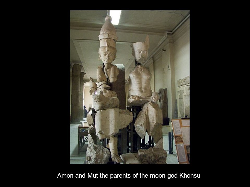 Amon and Mut the parents of the moon god Khonsu
