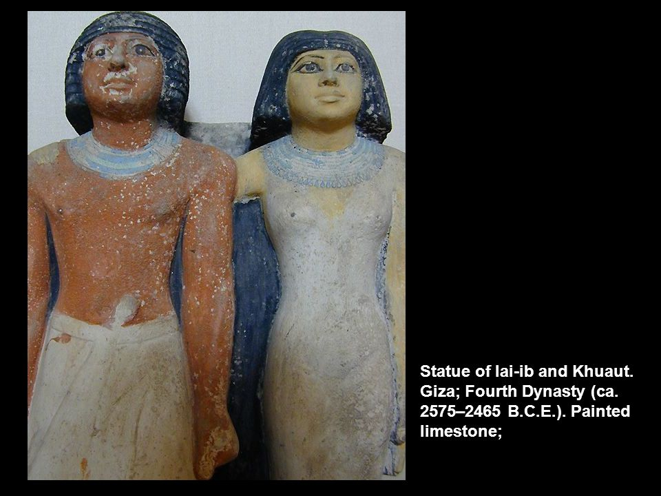 Statue of Iai-ib and Khuaut. Giza; Fourth Dynasty (ca. 2575–2465 B. C
