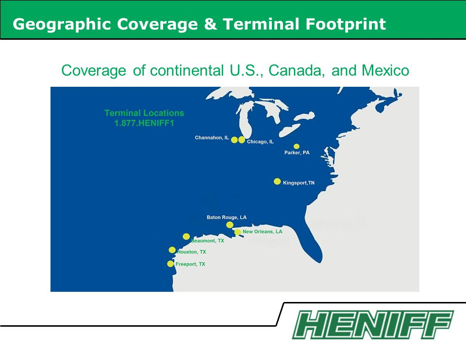 Coverage of continental U.S., Canada, and Mexico