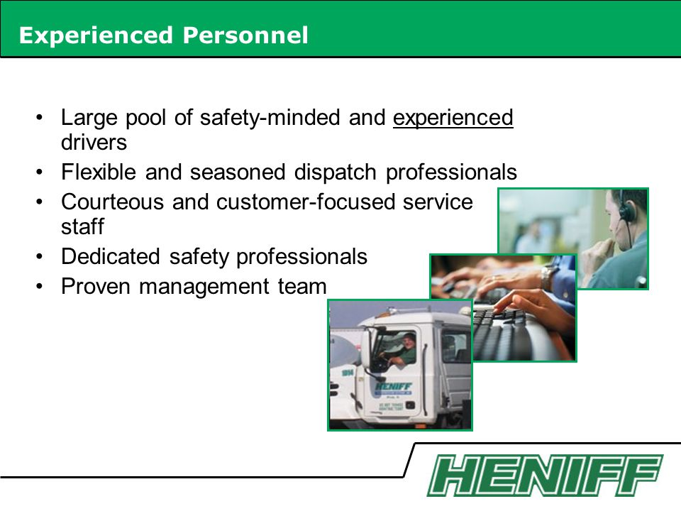 Experienced Personnel