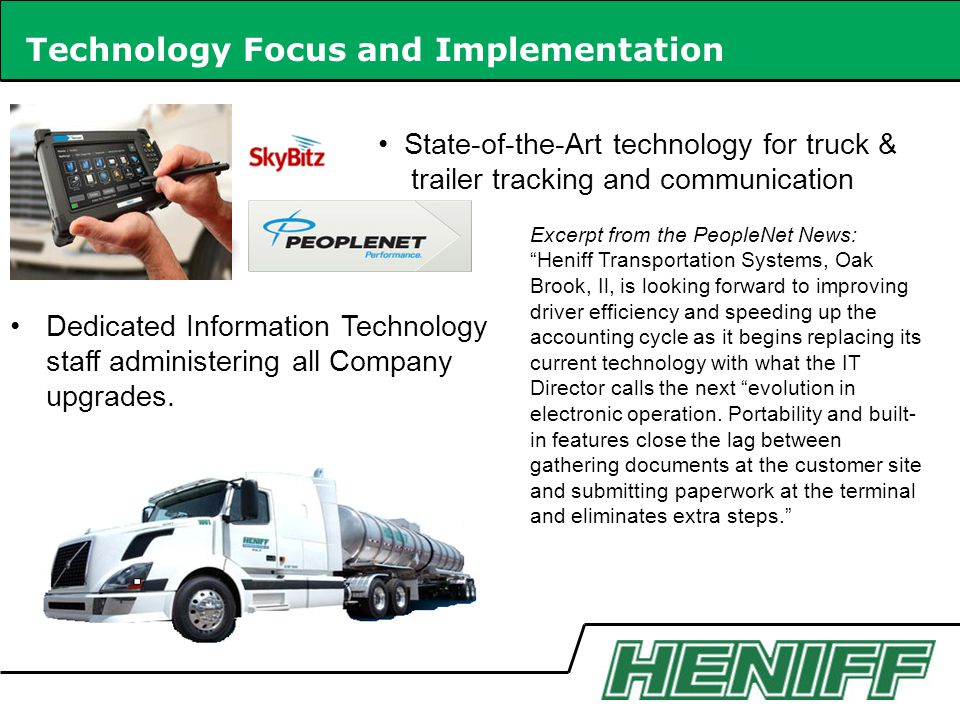 Technology Focus and Implementation