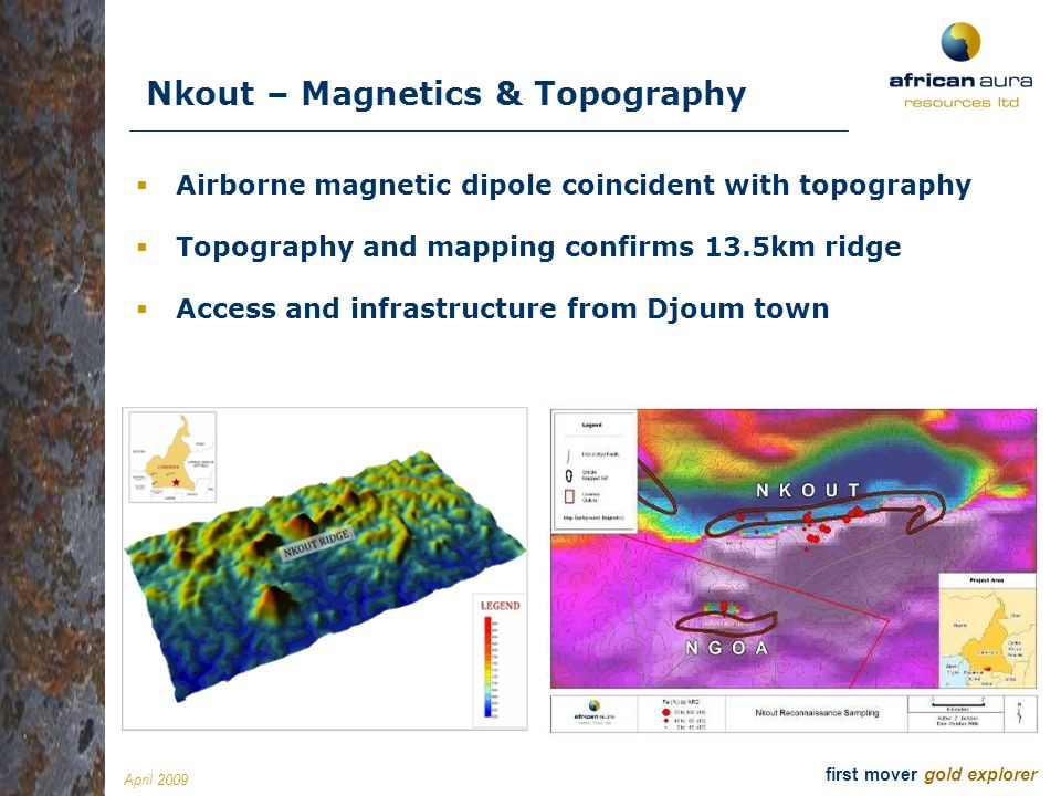 Nkout – Magnetics & Topography