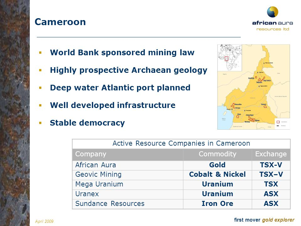 Active Resource Companies in Cameroon
