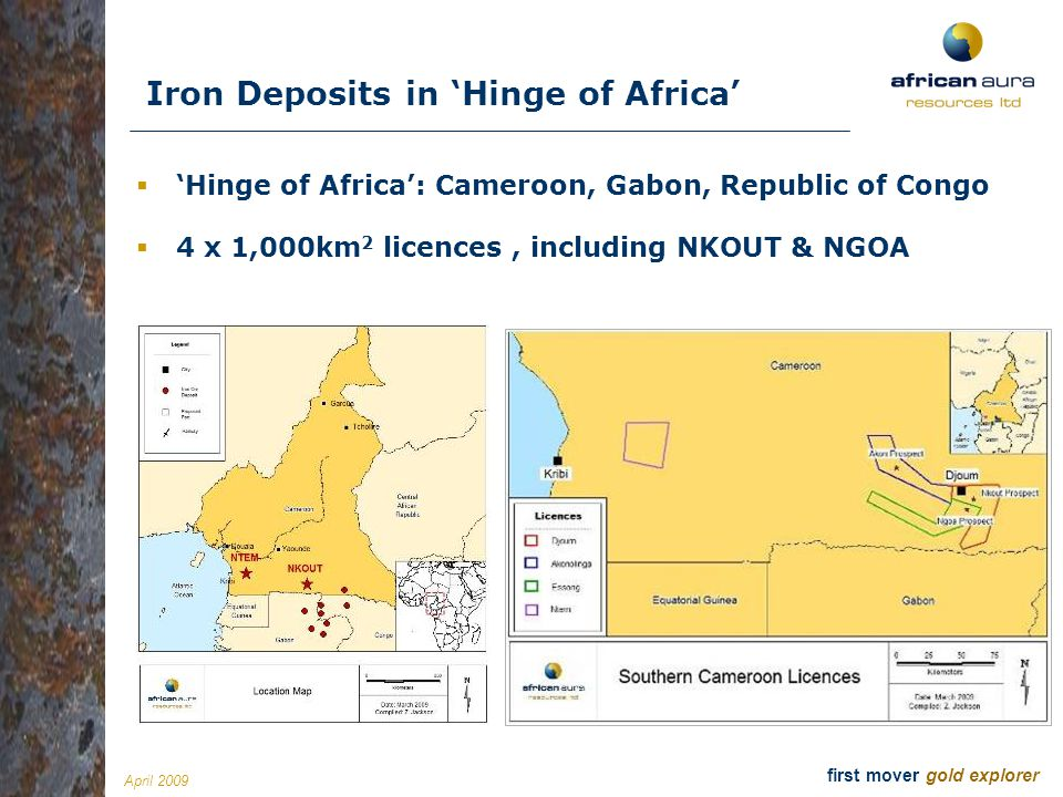 Iron Deposits in 'Hinge of Africa'