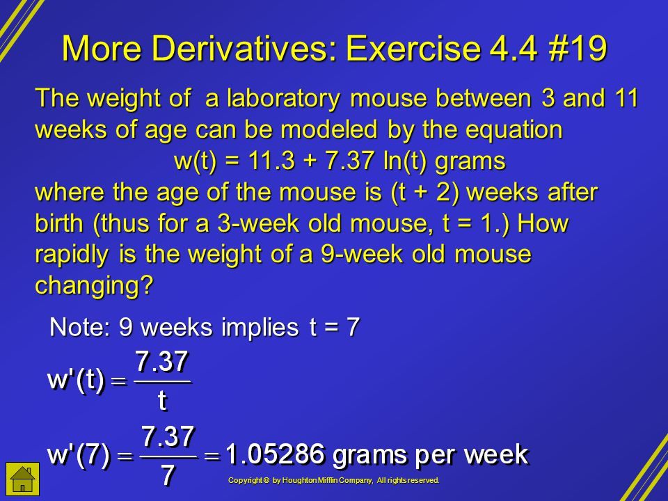 More Derivatives: Exercise 4.4 #19