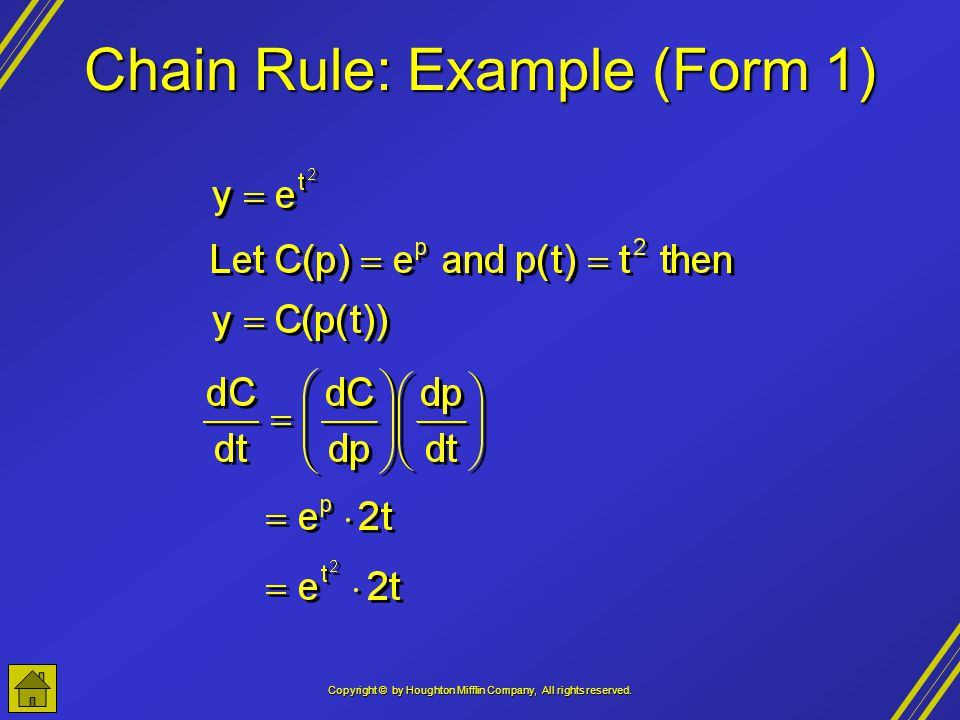 Chain Rule: Example (Form 1)