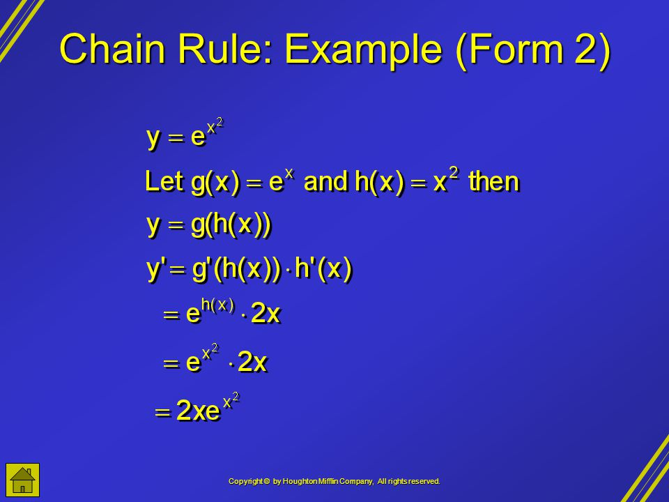 Chain Rule: Example (Form 2)