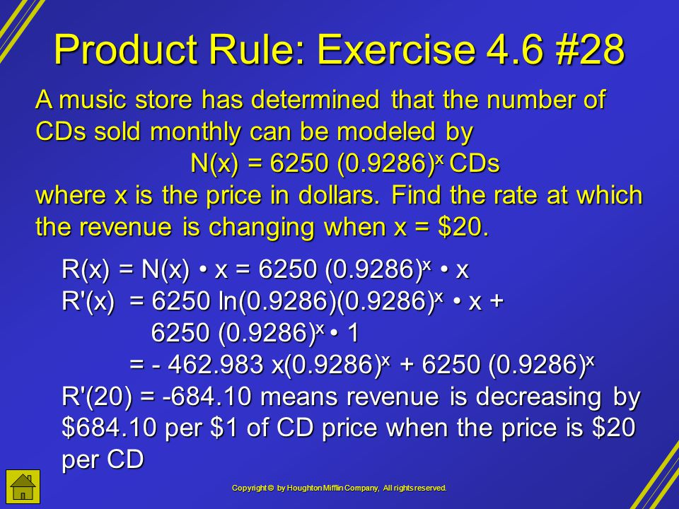 Product Rule: Exercise 4.6 #28