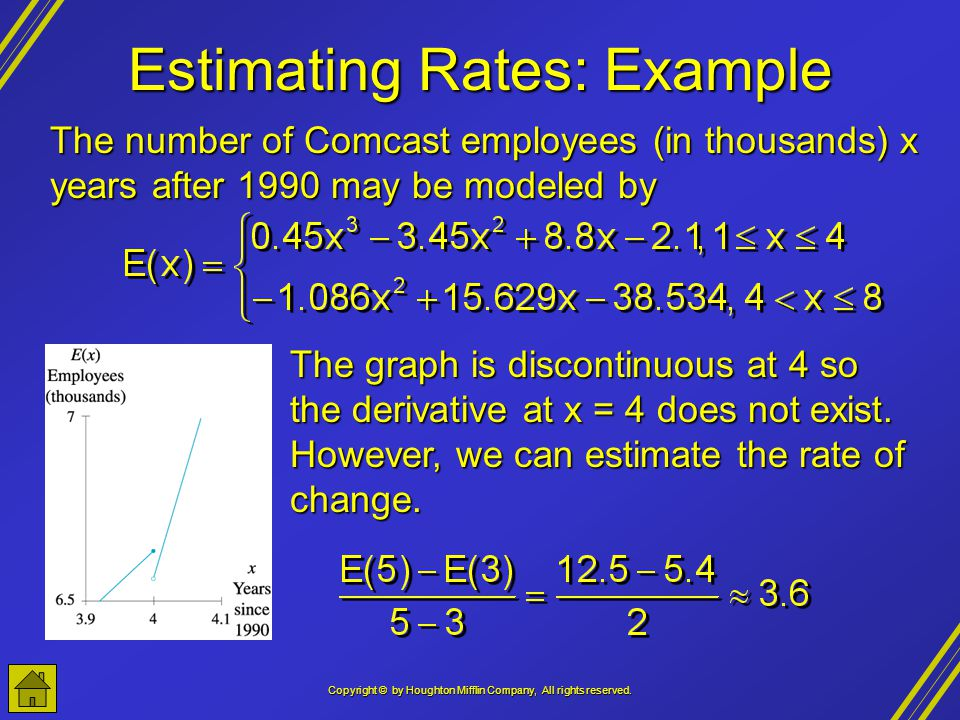 Estimating Rates: Example