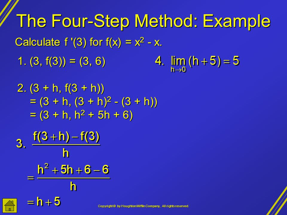 The Four-Step Method: Example