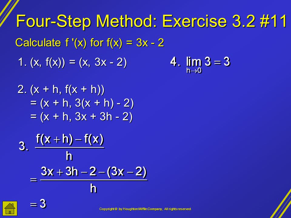 Four-Step Method: Exercise 3.2 #11