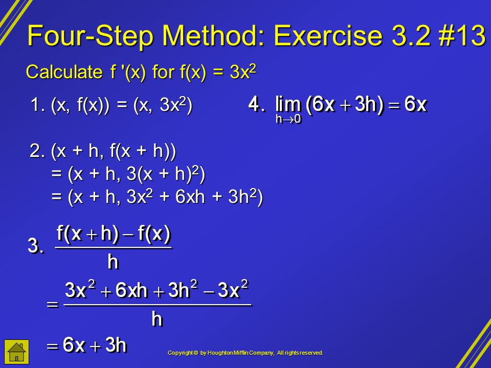 Four-Step Method: Exercise 3.2 #13