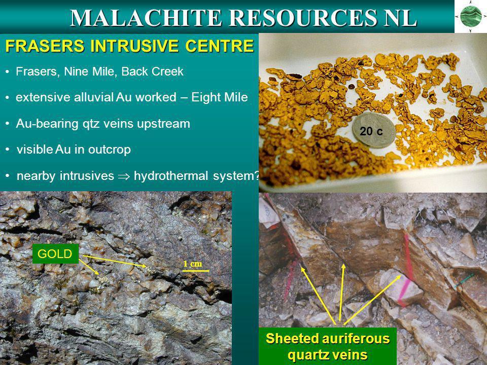 MALACHITE RESOURCES NL FRASERS INTRUSIVE CENTRE