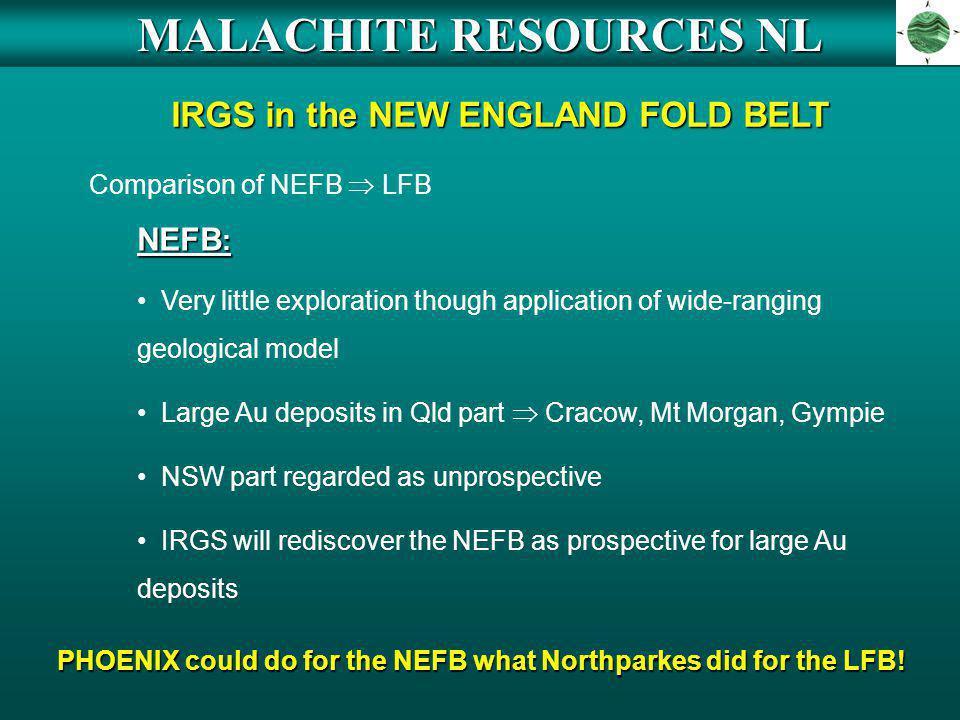 MALACHITE RESOURCES NL