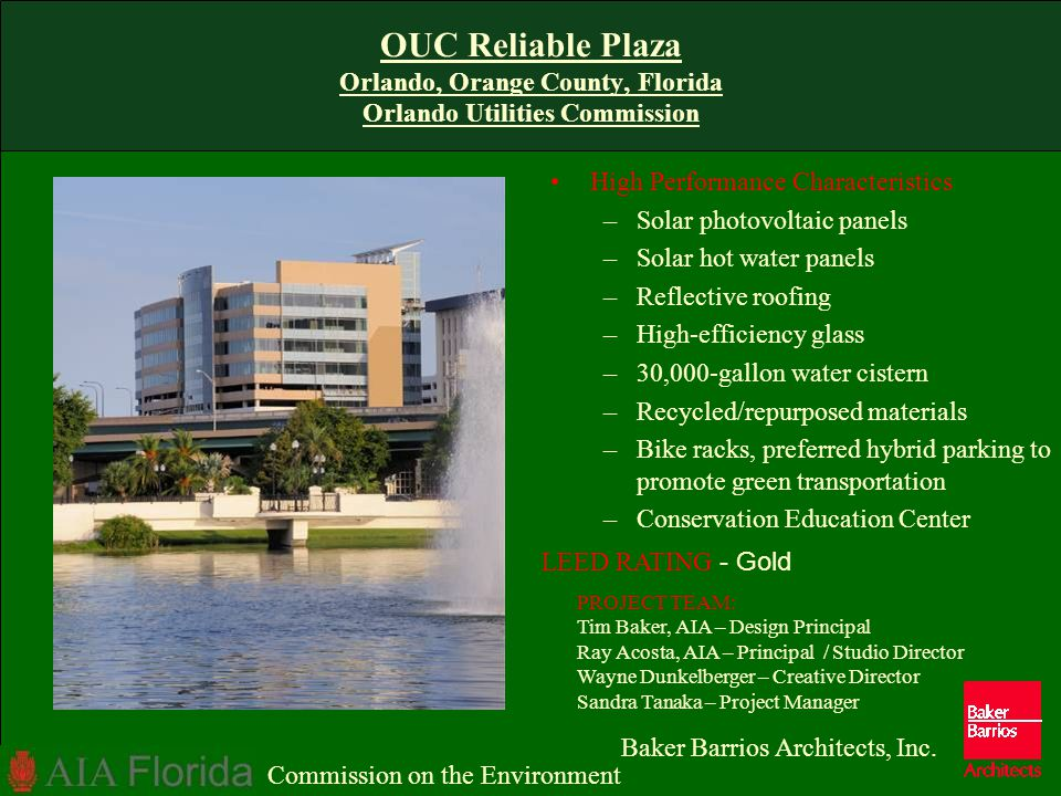 OUC Reliable Plaza Orlando, Orange County, Florida Orlando Utilities Commission