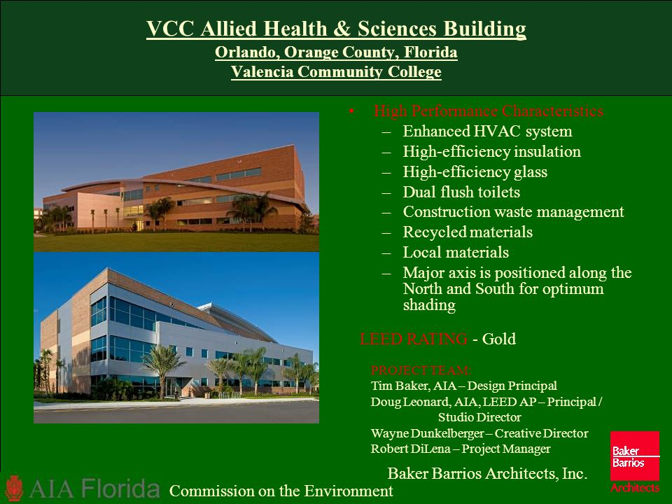 VCC Allied Health & Sciences Building Orlando, Orange County, Florida Valencia Community College