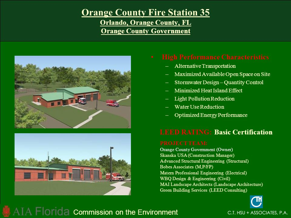 Orange County Fire Station 35 Orlando, Orange County, FL Orange County Government
