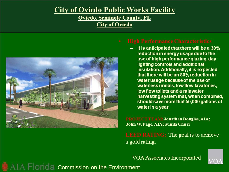 City of Oviedo Public Works Facility Oviedo, Seminole County, FL City of Oviedo