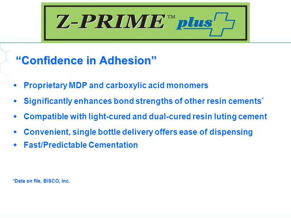 Confidence in Adhesion