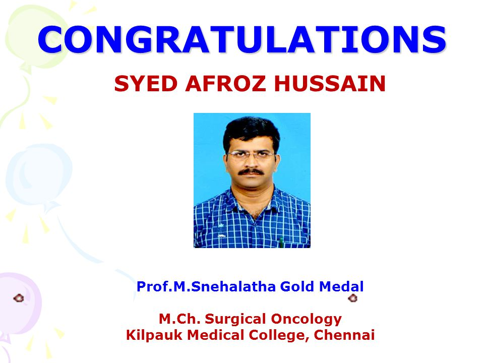 Prof.M.Snehalatha Gold Medal Kilpauk Medical College, Chennai