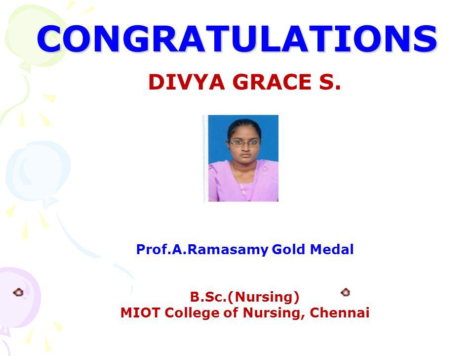 Prof.A.Ramasamy Gold Medal MIOT College of Nursing, Chennai