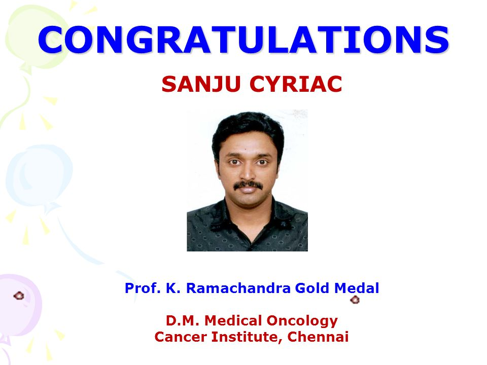 Prof. K. Ramachandra Gold Medal Cancer Institute, Chennai