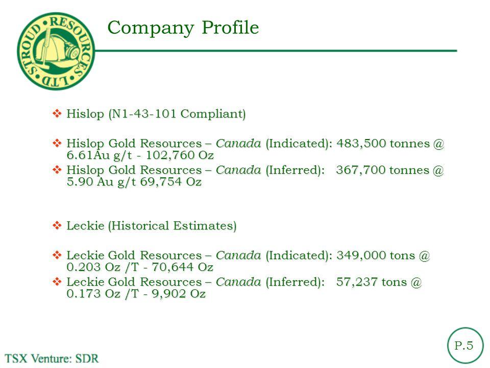 Company Profile Hislop (N1-43-101 Compliant)