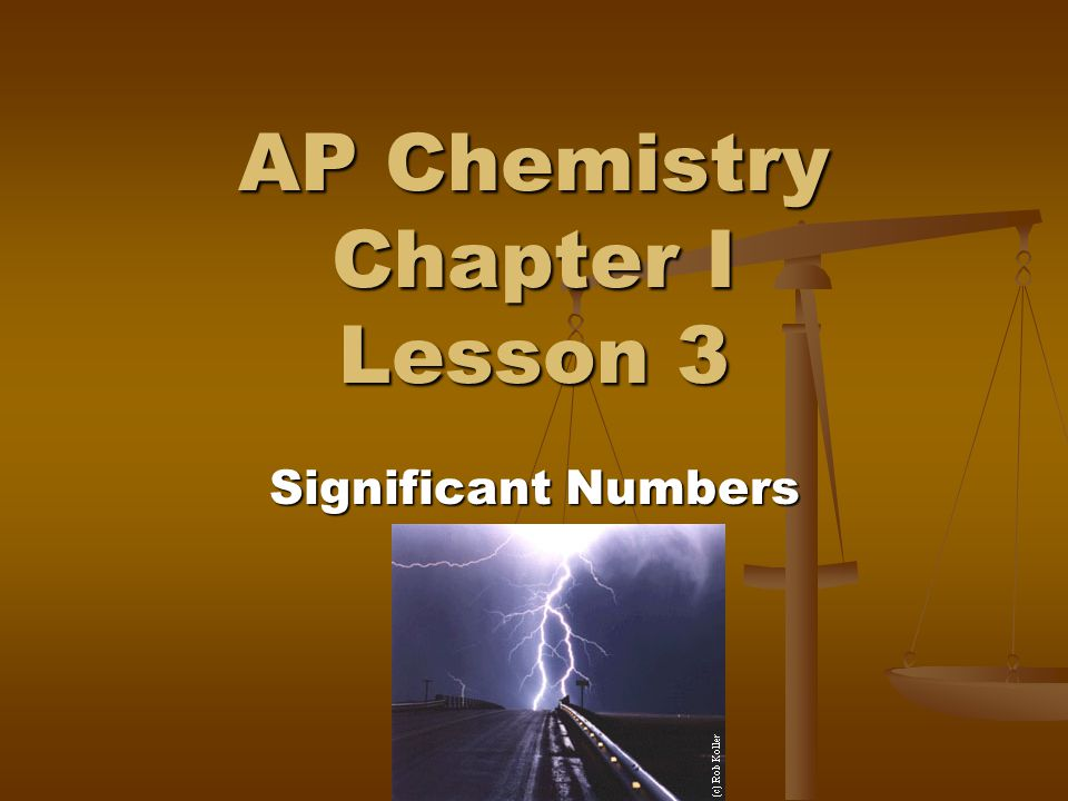 AP Chemistry Chapter I Lesson 3