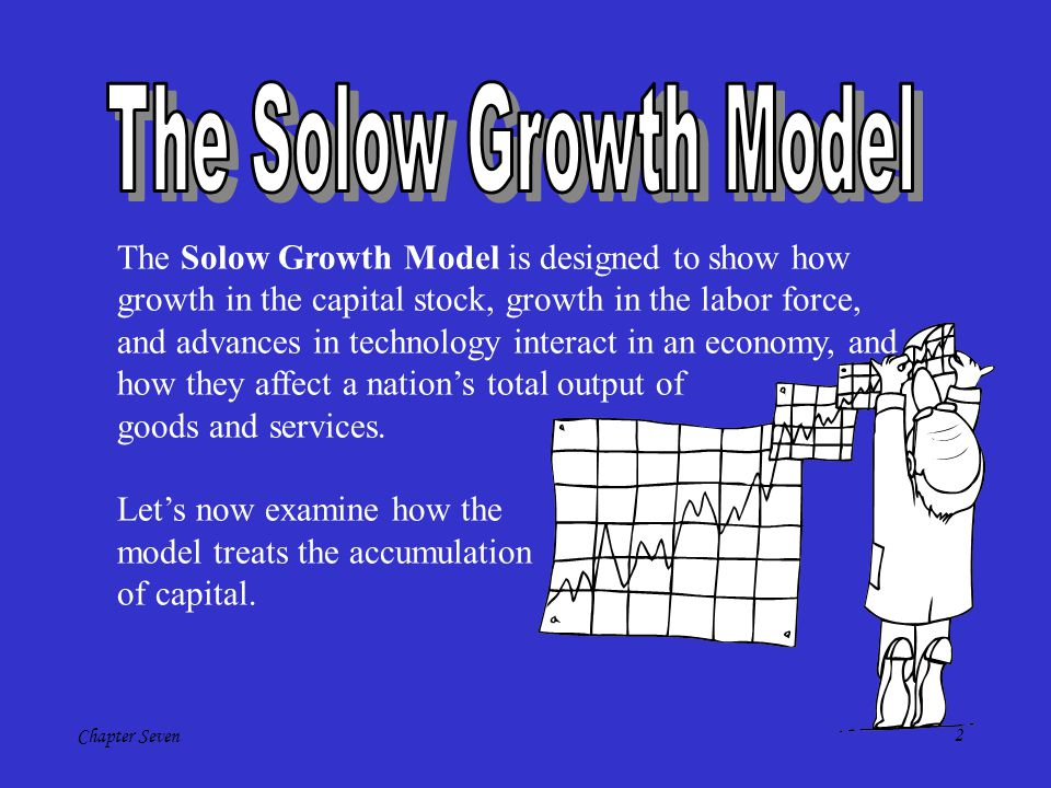The Solow Growth Model The Solow Growth Model is designed to show how