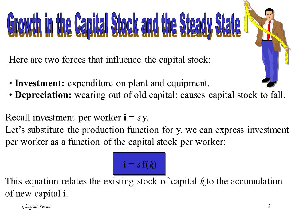 Growth in the Capital Stock and the Steady State