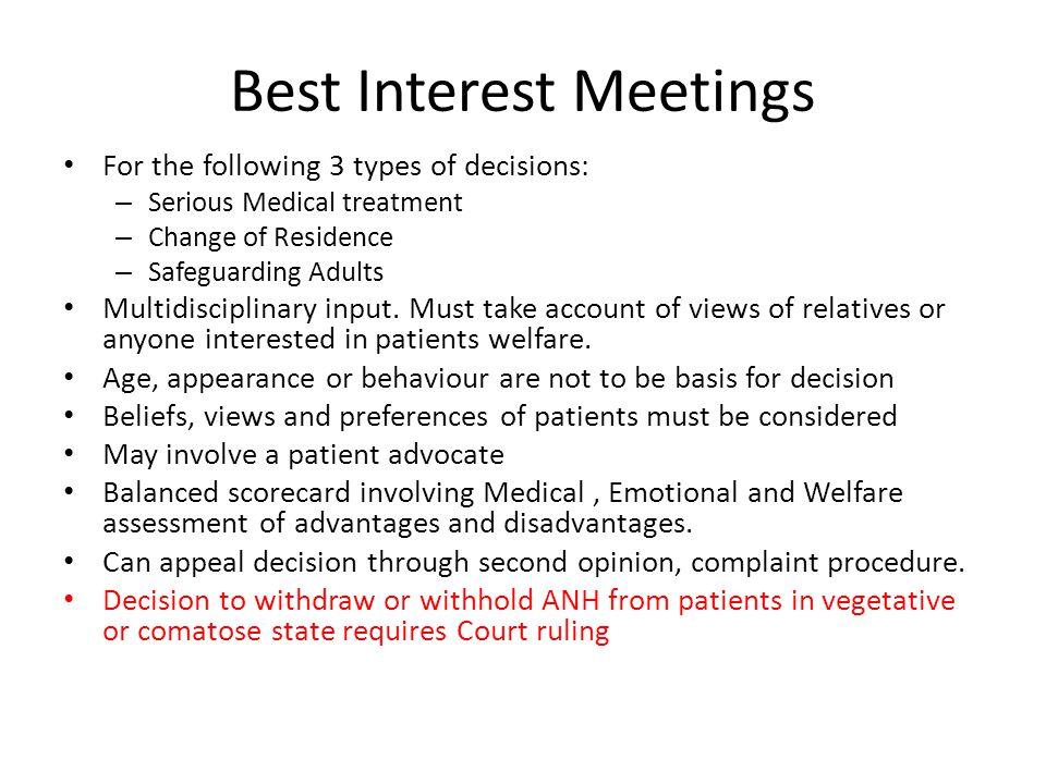 Best Interest Meetings