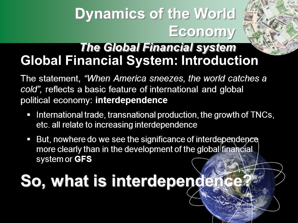 So, what is interdependence