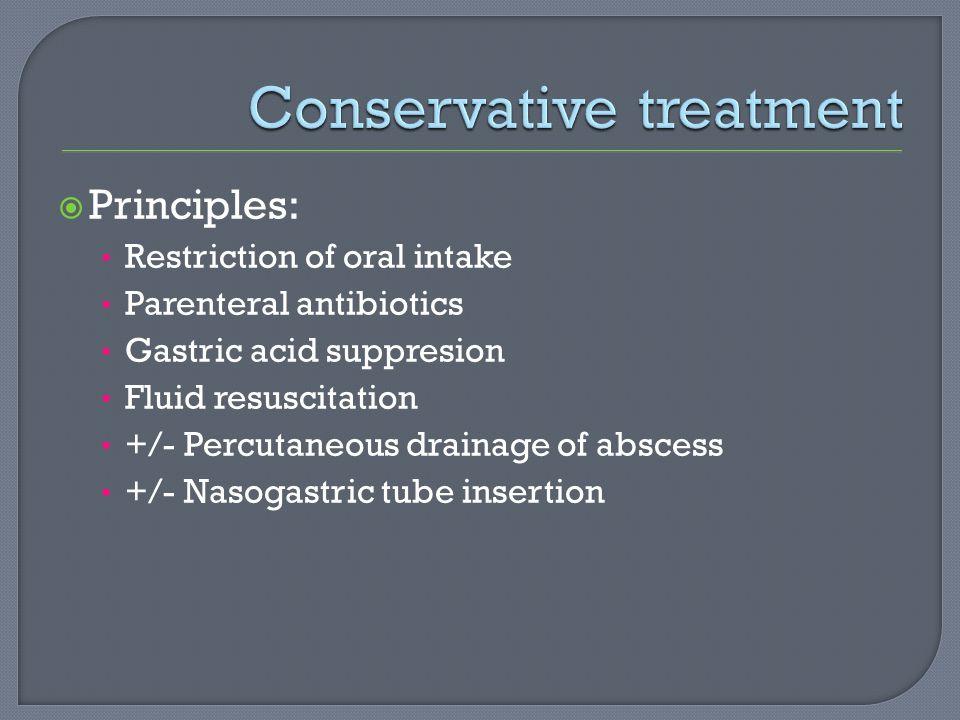 Conservative treatment