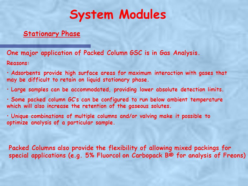 System Modules Stationary Phase