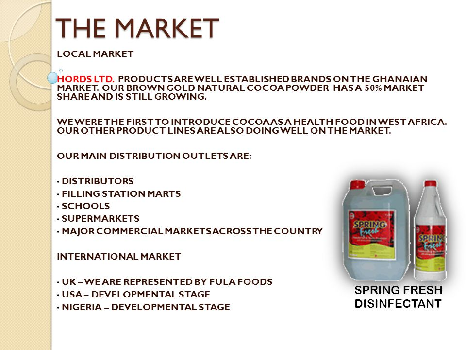 THE MARKET SPRING FRESH DISINFECTANT LOCAL MARKET