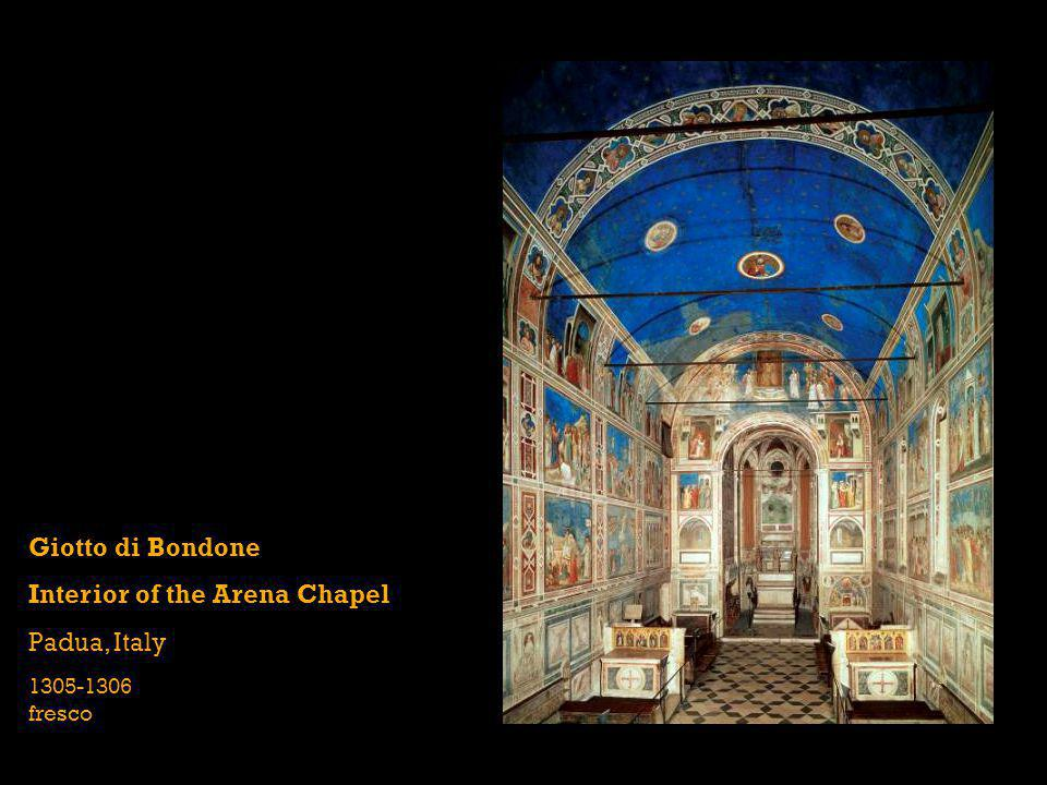 Interior of the Arena Chapel Padua, Italy