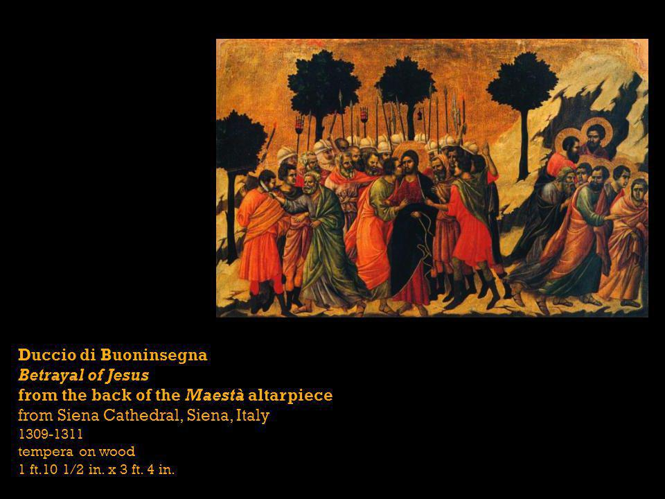 Betrayal of Jesus from the back of the Maestà altarpiece