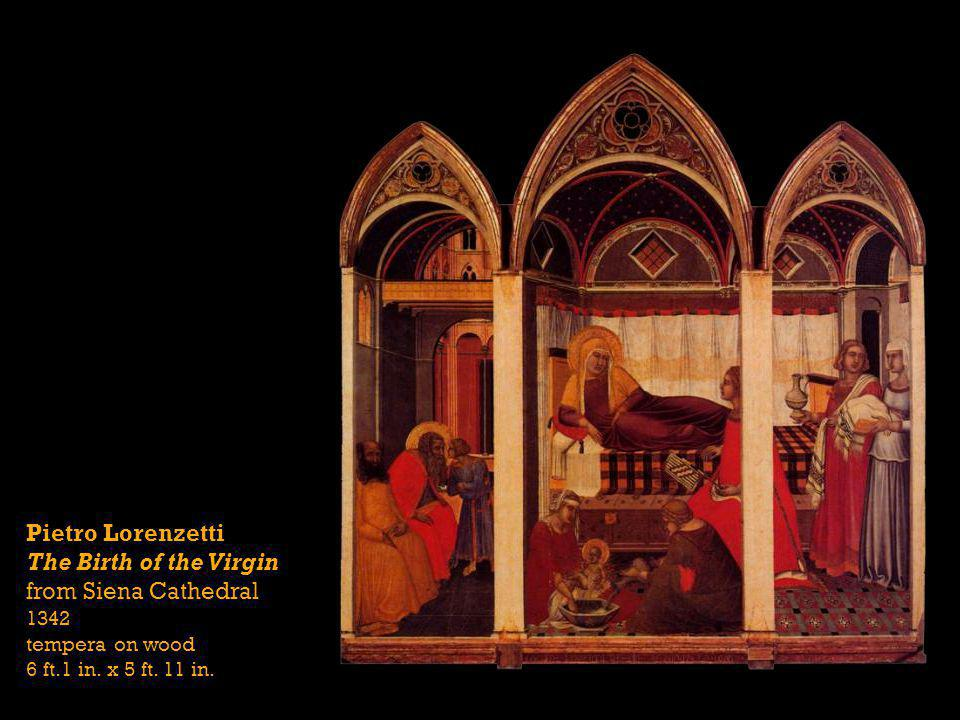 Pietro Lorenzetti The Birth of the Virgin from Siena Cathedral