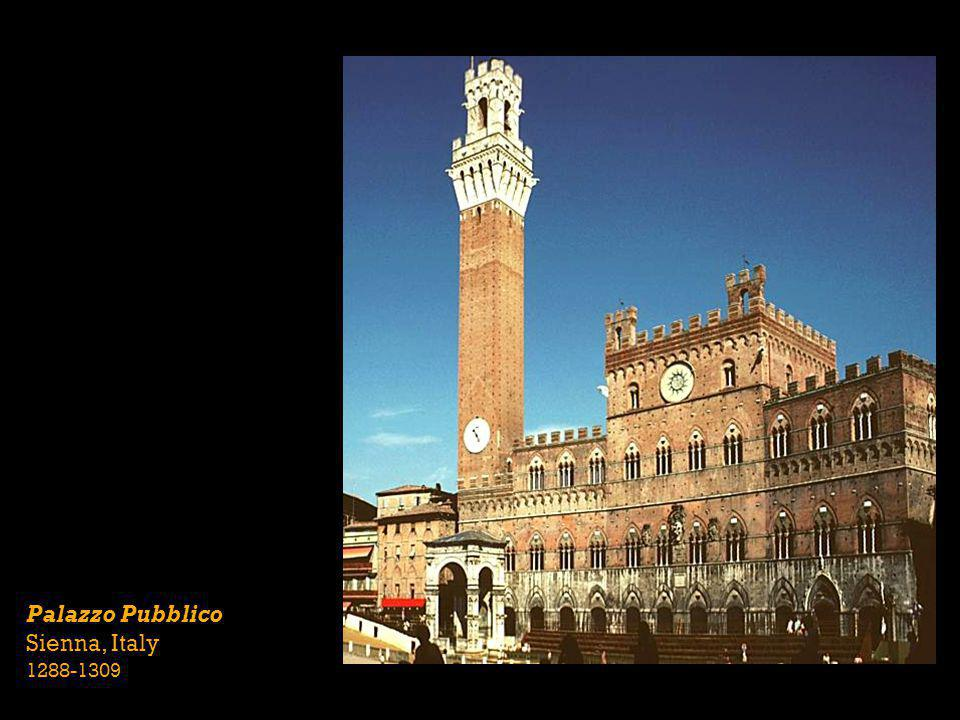 Palazzo Pubblico Sienna, Italy 1288-1309