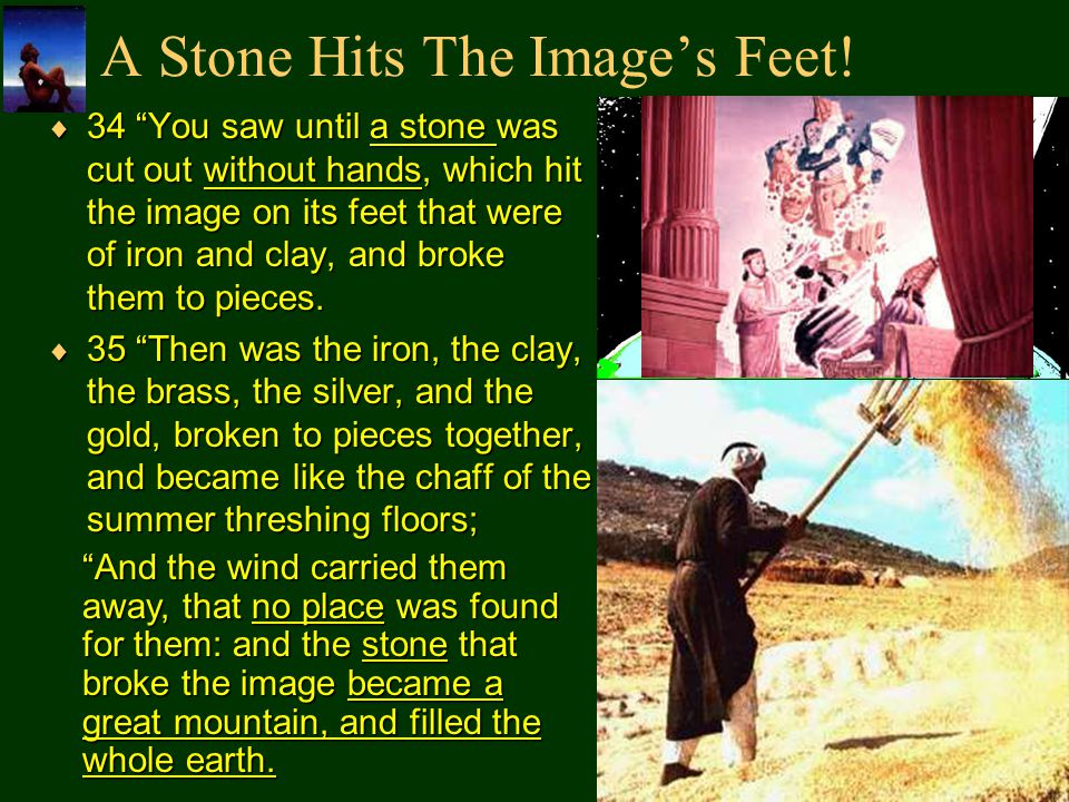 A Stone Hits The Image's Feet!