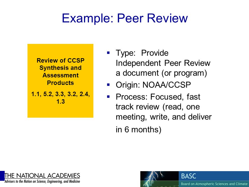 Review of CCSP Synthesis and Assessment Products