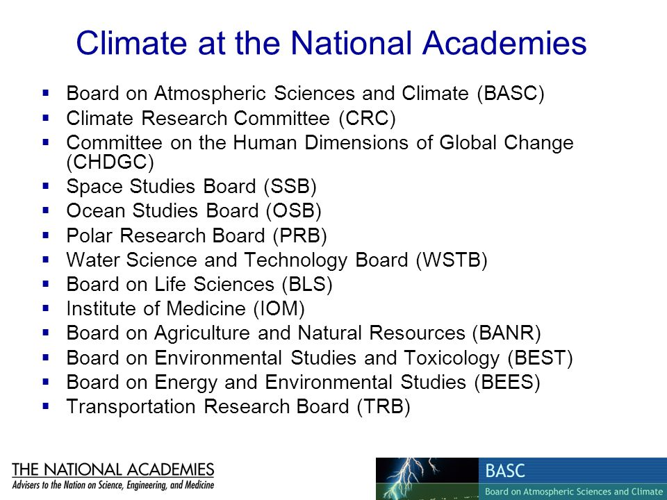 Climate at the National Academies